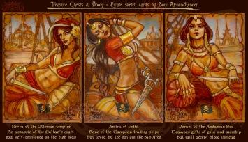 Nevra of the Ottoman Empire, Amira of India, & Jorani of the Andaman Sea by Soni Alcorn-Hender
