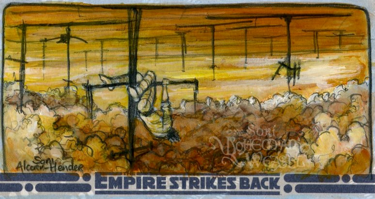 Topps Empire Strikes Back 3D sketch card by Soni Alcorn-Hender