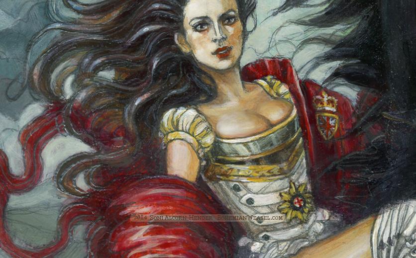 'Andraste of Waterloo' detail, Soni Alcorn-Hender