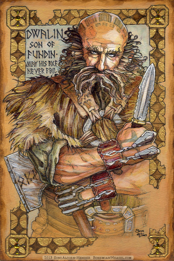 Hobbit Illumination: Dwalin, by Soni Alcorn-Hender. ドワーリン
