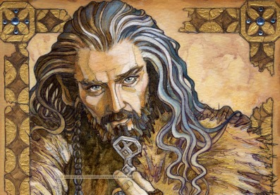 Hobbit Illumination: Thorin Oakenshield, by Soni Alcorn-Hender