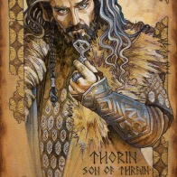 Hobbit Illumination: Thorin Oakenshield, by Soni Alcorn-Hender.