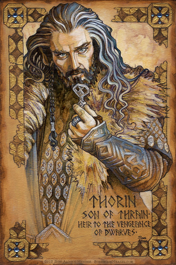 Hobbit Illumination: Thorin Oakenshield, by Soni Alcorn-Hender. トーリン・オーケンシールド