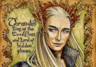 Hobbit Illumination: Thranduil, by Soni Alcorn-Hender.
