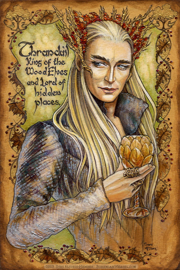 Hobbit Illumination: Thranduil, by Soni Alcorn-Hender. 闇の森のエルフ王