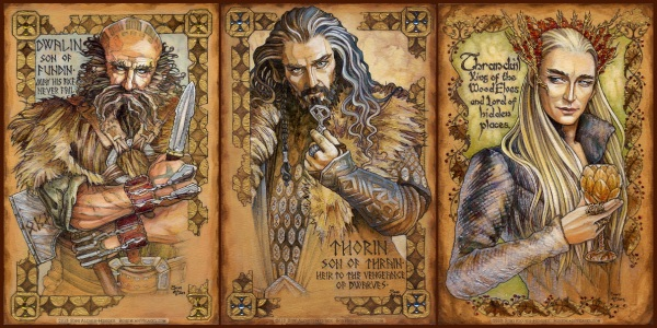 Hobbit Illuminations by Soni Alcorn-Hender