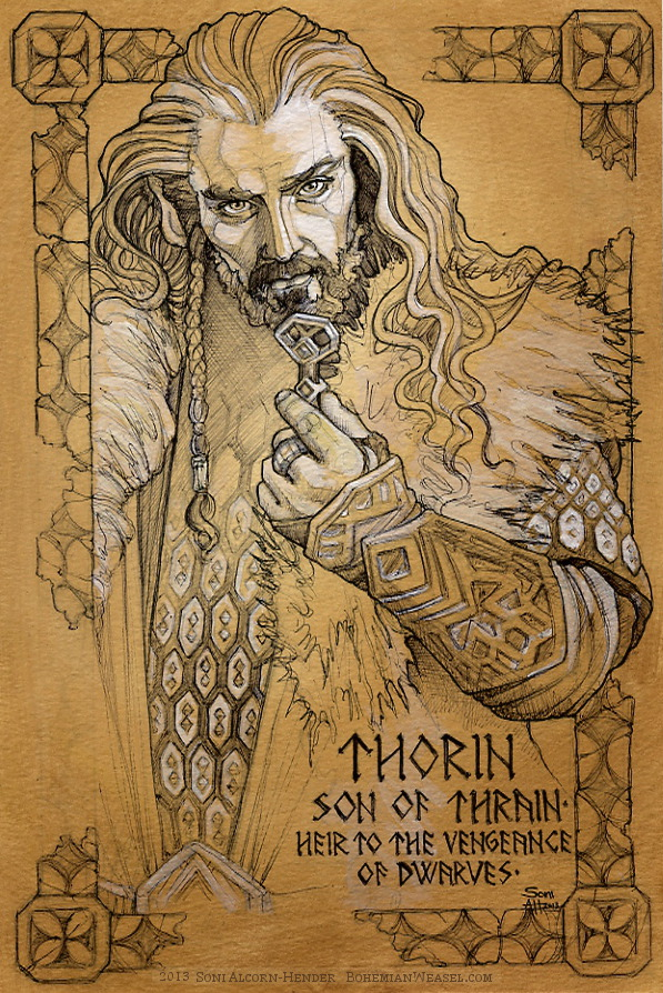 Thorin work in progress, by Soni Alcorn-Hender
