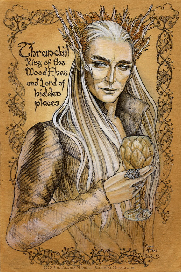 Thranduil work in progress by Soni Alcorn-Hender