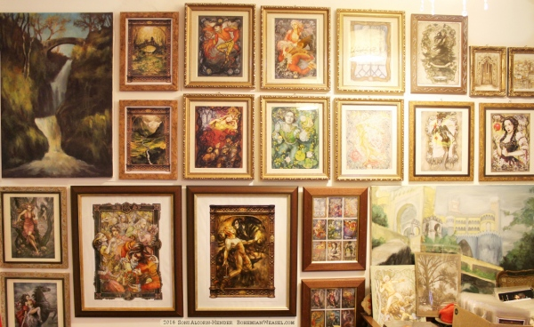 Artist studio of Soni Alcorn-Hender (bohemian weasel)