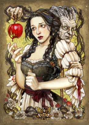 'A gift for lips as red as blood'. Snow White, by Soni Alcorn-Hender