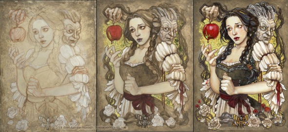 Snow White (work in progress stages), by Soni Alcorn-Hender