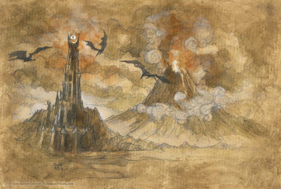 Mordor for The Hillywood Show, by Soni Alcorn-Hender