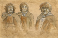 Pippin, Merry & Sam for The Hillywood Show, by Soni Alcorn-Hender