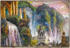 Galadriel and Gandalf in Rivendell, The Hobbit. Soni Alcorn-Hender