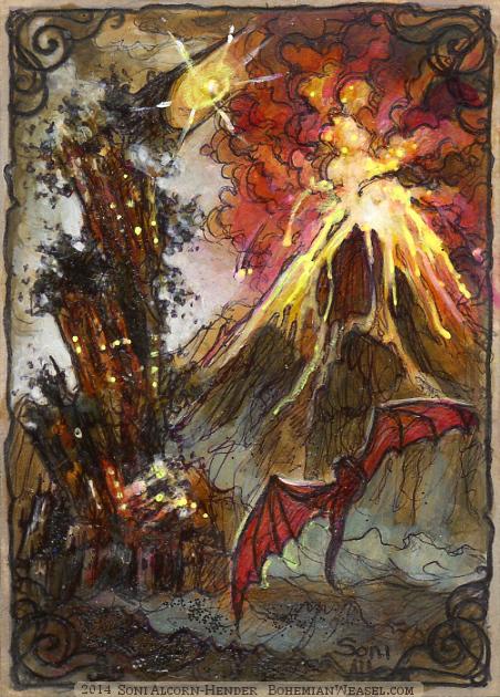Fall of Barad-dûr, by Soni Alcorn-Hender