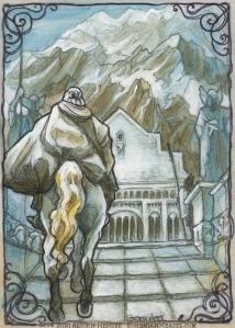 Gandalf rides to Gondor by Soni Alcorn-Hender