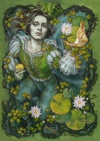 Frog Prince painting, Soni Alcorn-Hender