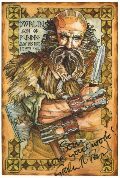 Dwalin illumination by Soni Alcorn-Hender, signed by Graham McTavish