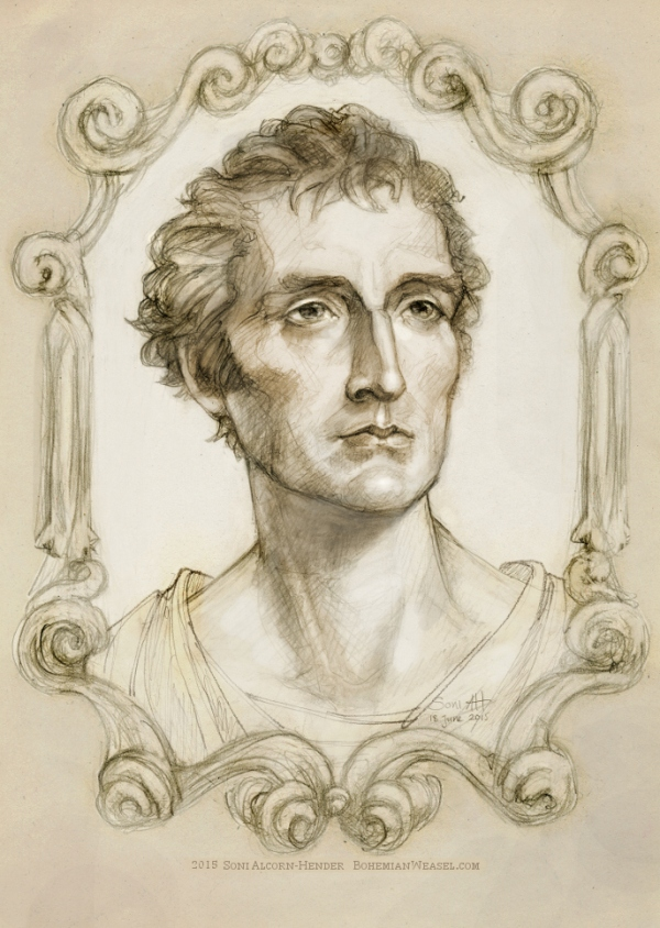 Arthur Wellesley Duke of Wellington sketch, Soni Alcorn-Hender
