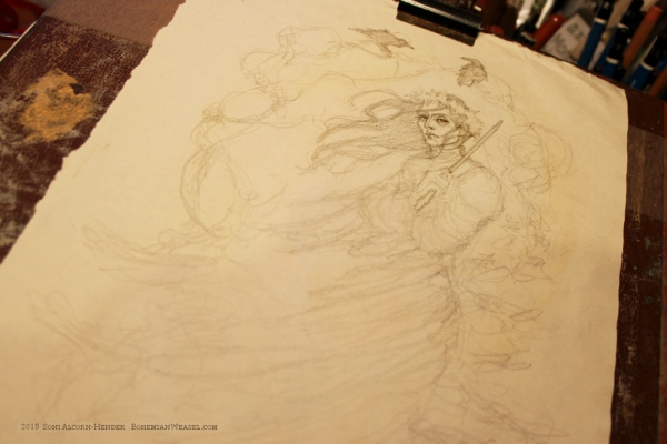 Raven King (Strange & Norrell) work-in-progress, by Soni Alcorn-Hender
