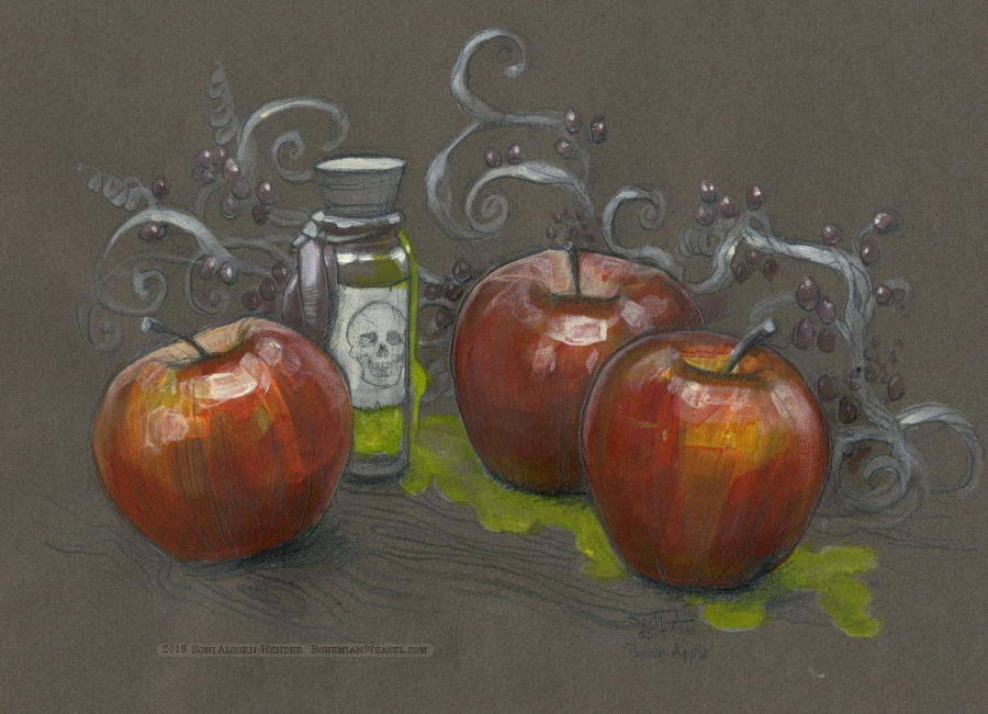 Poison Apple, gothic still-life by Soni Alcorn-Hender