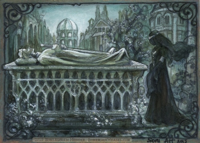 At Aragorn's tomb, by Soni Alcorn-Hender