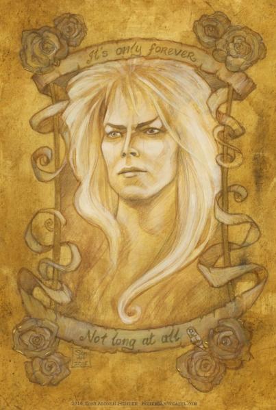 David Bowie as Jareth the Goblin King, Soni Alcorn-Hender