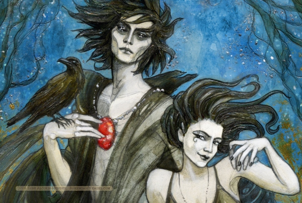 Dream and Death detail, The Sandman, Soni Alcorn-Hender