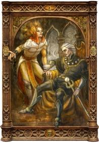 Sauron and Ar-Pharazôn, by Soni Alcorn-Hender
