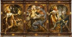 Sauron with Melkor, Celebrimbor, and Ar-Pharazôn by Soni Alcorn-Hender