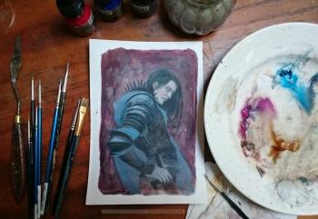 Eöl the Dark Elf (work in progress), by Soni Alcorn-Hender