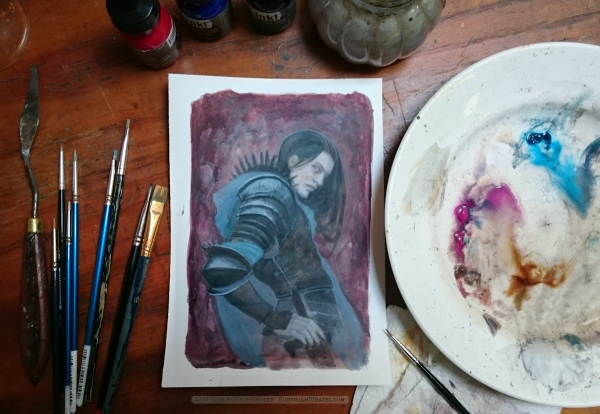 Eöl the dark elf, work in progress by Soni Alcorn-Hender