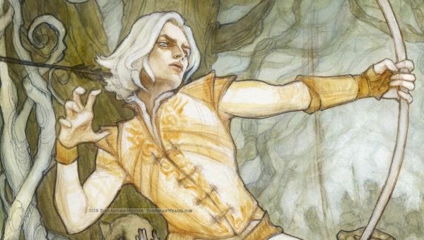Battle Under the Trees (Elves & Orcs) detail, by Soni Alcorn-Hender