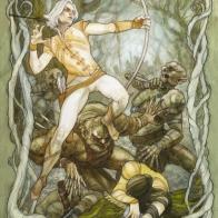 Battle Under the Trees (Elves & Orcs) by Soni Alcorn-Hender