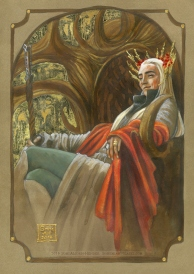 Thranduil throned, by Soni Alcorn-Hender