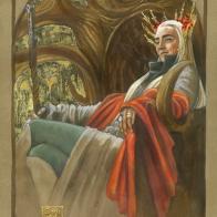 Thranduil throned, by Soni Alcorn-Hender