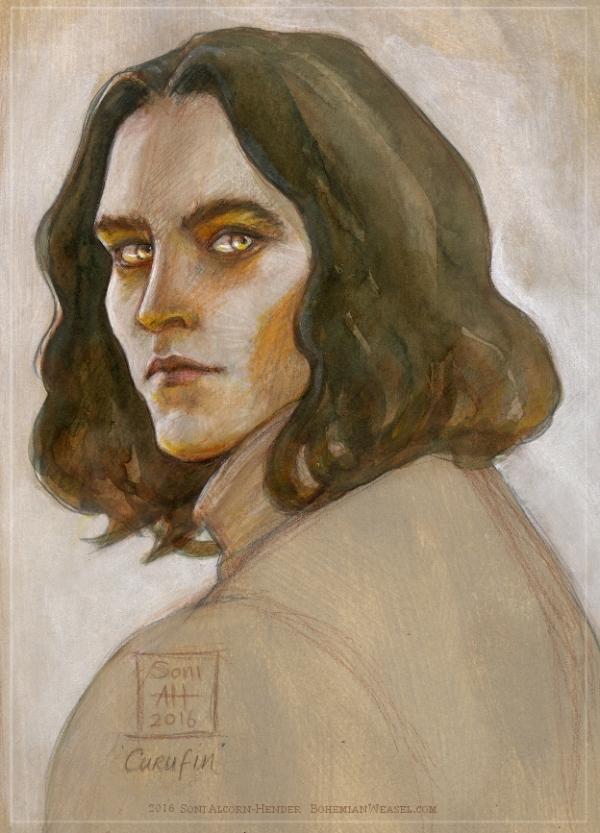 Curufin son of Fëanor coloured sketch, Soni Alcorn-Hender