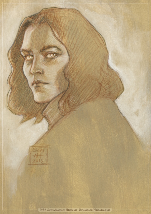 Curufin son of Fëanor sketch, Soni Alcorn-Hender