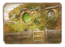 Bag End painting by Soni Alcorn-Hender