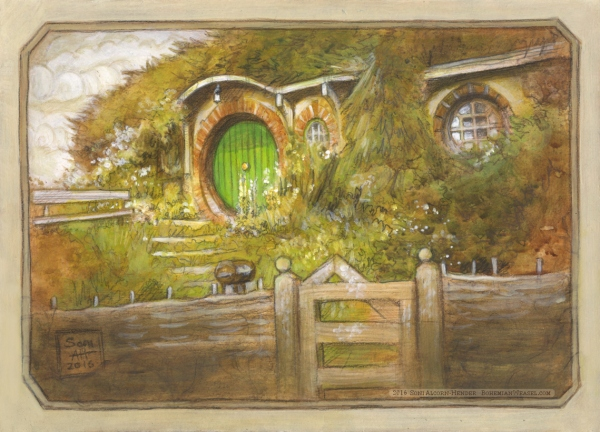 Bag End sketch by Soni Alcorn-Hender