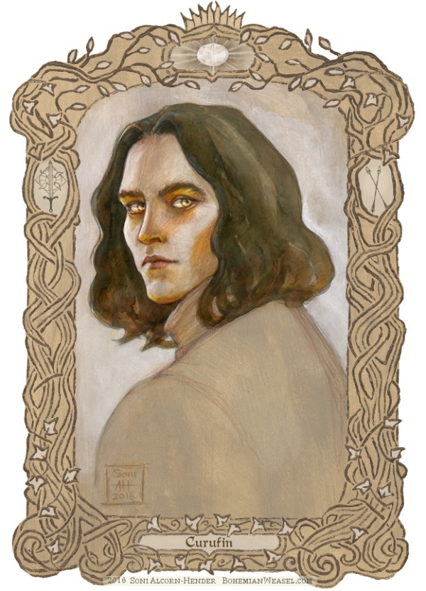 Curufin son of Fëanor, with border, Soni Alcorn-Hender