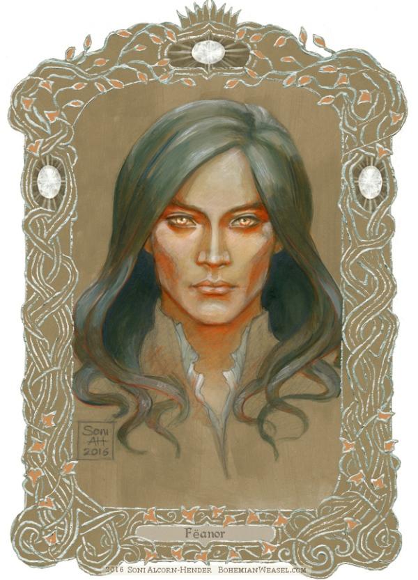 Fëanor, with border, Soni Alcorn-Hender