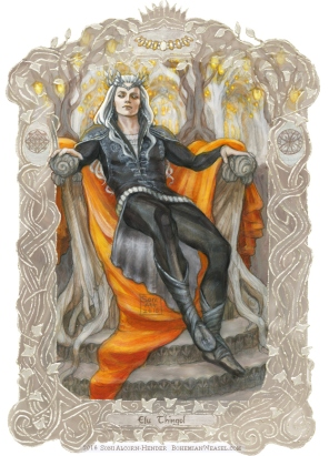 Thingol upon his throne, by Soni Alcorn-Hender