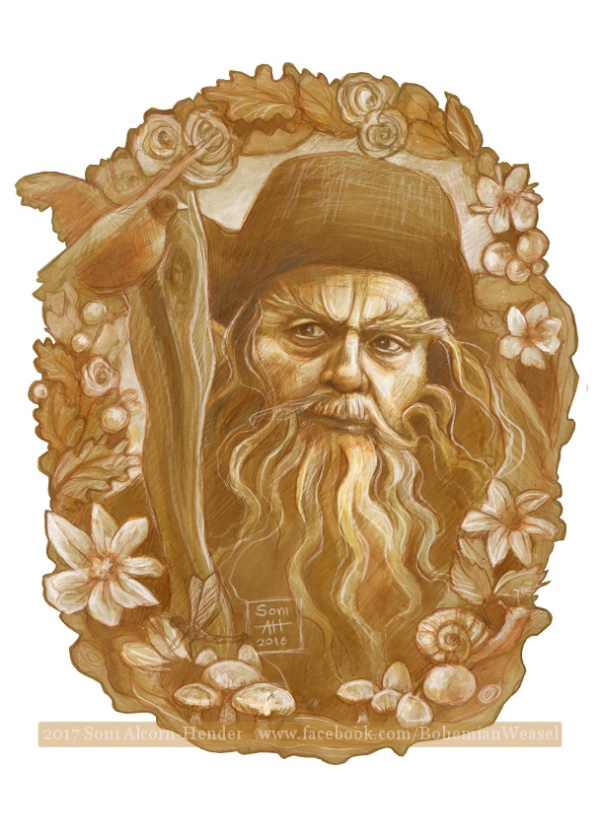 Radagast drawing, Soni Alcorn-Hender