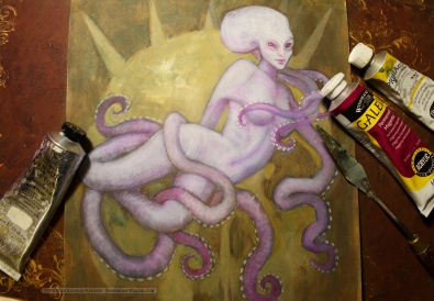 Antarctic volcanic Octopus mermaid (wip2), Soni Alcorn-Hender