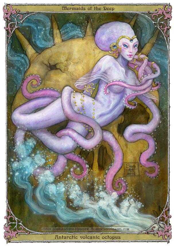 Antarctic volcanic Octopus mermaid, Soni Alcorn-Hender