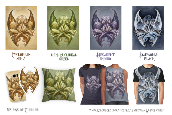 Cthulhu dreaming in different colours, Soni Alcorn-Hender