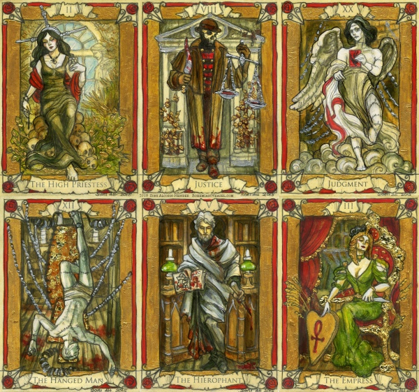 Penny Dreadful tarot cards, preview, Soni Alcorn-Hender