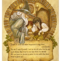 Gandalf and Frodo, by Soni Alcorn-Hender