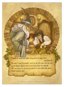 Gandalf and Frodo, by Soni Alcorn-Hender